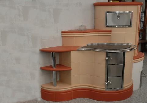 3 kW-os cotto-vörös színű konyha