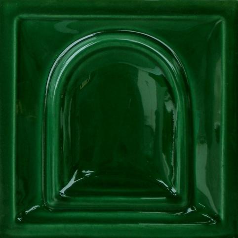 fényes fűzöld színű máz