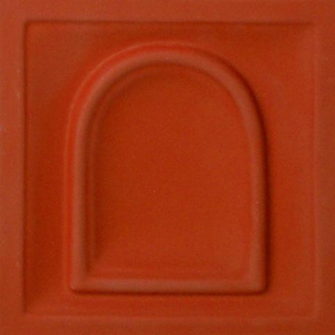 selyemmatt cotto-vörös színű máz