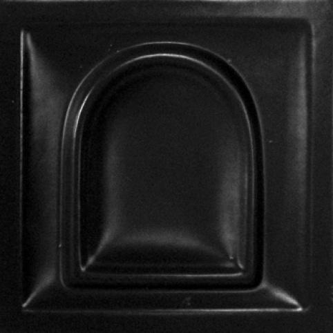 selyemmatt fekete színű máz