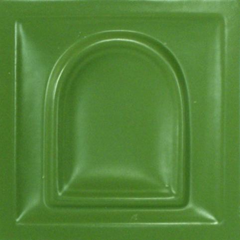 selyemmatt keki-zöld színű máz