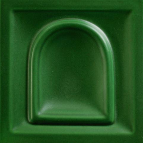 selyemmatt mohazöld színű máz