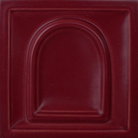 selyemmatt rubinvörös színű máz