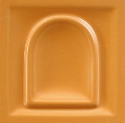 selyemmatt terrakotta színű máz