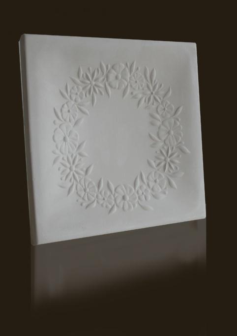 gótikus virágkoszorú mintás csempe